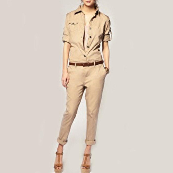 Женский комбинезон Jumpsuits new 2015 uma outono primavera marca comprida women jumpsuits & rompers мужской ремень cinto couro marca