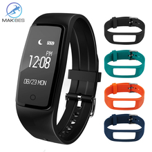 Buy Original Makibes S1 Smart Bracelet Bluetooth 4.0 OLED Screen Waterproof Heart Rate Monitor Smart Band Fitness Activity Tracker for $28.32 in AliExpress store