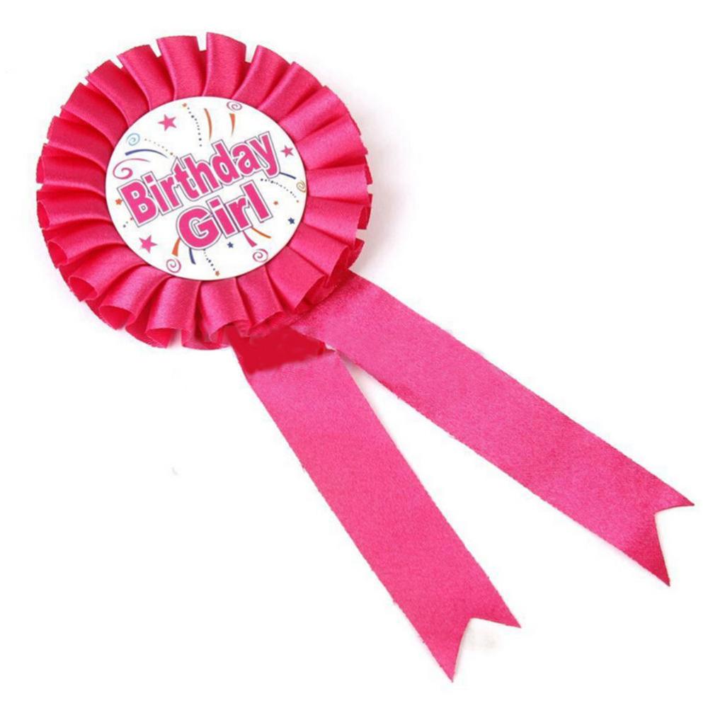 Printable Birthday Ribbon ~ Promoci�n de rosa insignia compra