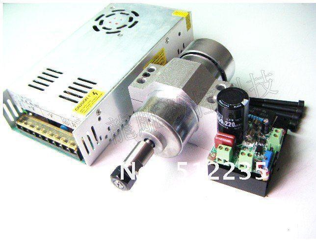 air cooled 300W Spindle Motor 12-48V DC ER11 collect + Mount Braket Holder + Power Supply Mach3 system(China (Mainland))
