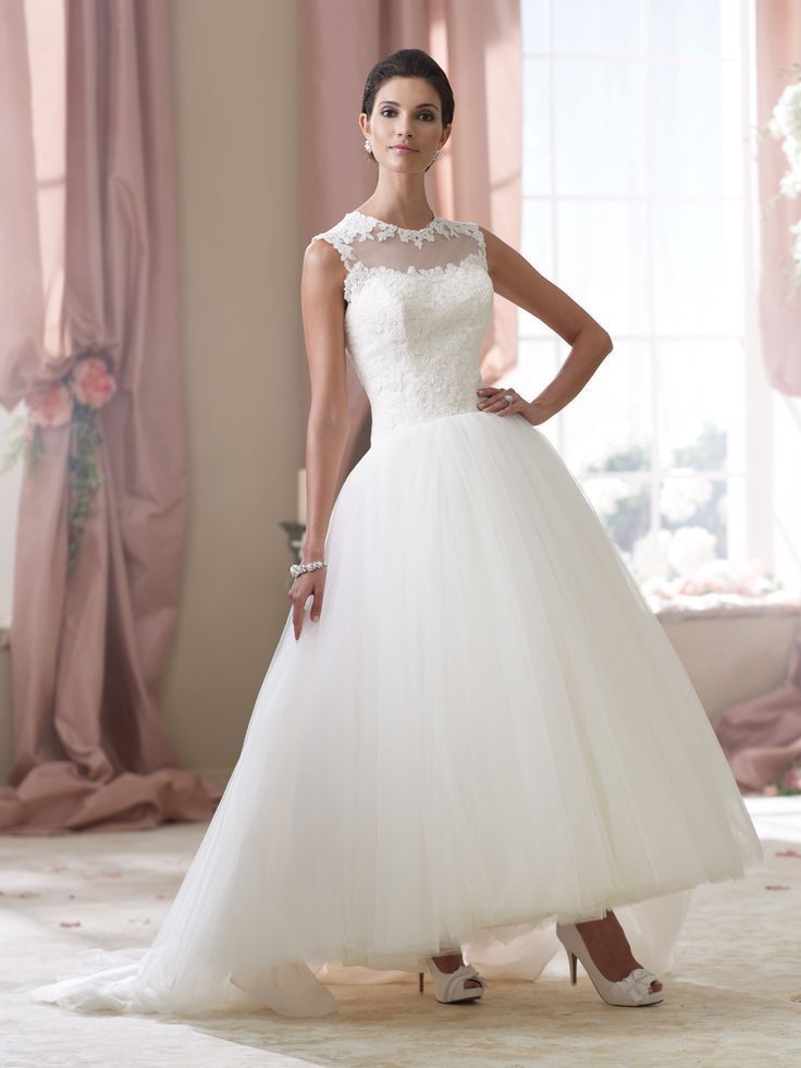 Online buy wholesale ankle length wedding dresses from for New wedding dress styles