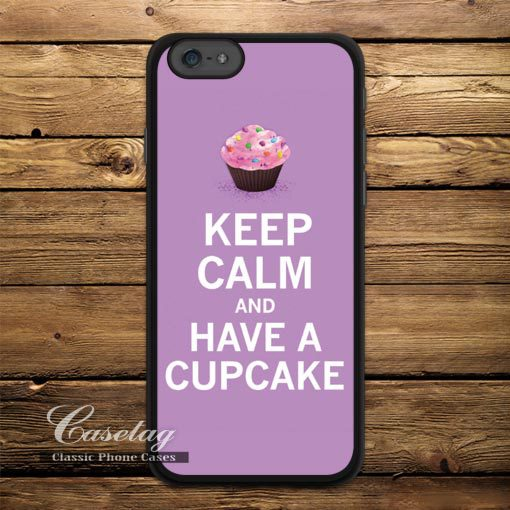 Have A Cupcake Case For Apple iPhone 6 6 Plus 5 5s 5C 4 4s Also For iPod 5 Lovely Classic Keep Calm Style Phone Cover(China (Mainland))