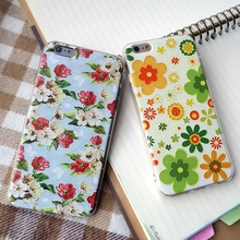 Newest Design Flowers painted Phone Case For iphone 6 6s 6Plus 5.5″ Air Cushion Shockproof Soft TPU back cover Fundas Coque capa