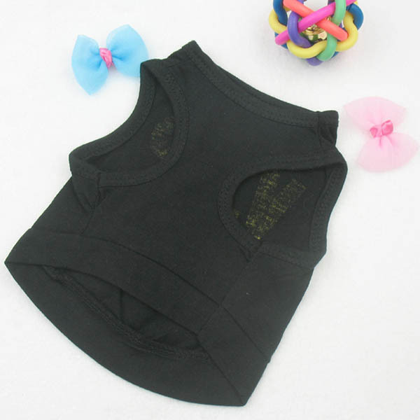 Black Cotton VIP T-shirt for Dogs
