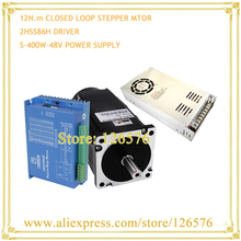 Buy Closed-loop stepper Motor 12N.m Nema 34 Hybrid 2-phase stepping motor kits 86J18156EC-1000 + 2HSS86H + 400W 48V Power Supply for $195.00 in AliExpress store