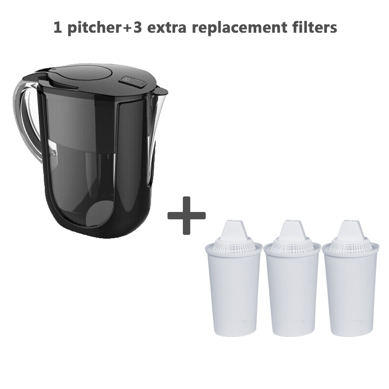 2016 Alkaline Water Jug Pitcher Plus extra 3 pack filters total of 4 filters Free Shipping by DHL(China (Mainland))