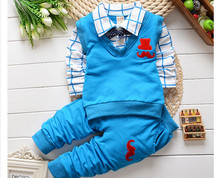 2015 spring autumn Baby boys clothing sets products kids cartoon clothes set babi boys high quality