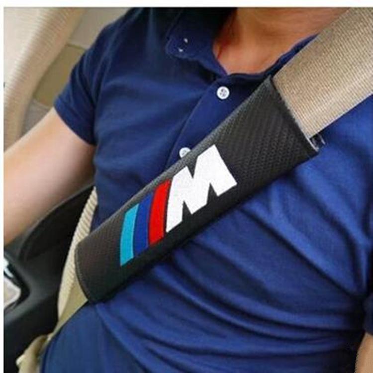 car styling ,free shipping Carbon Fiber Seat Belt Cover Shoulder Pad fit for BMW M E90 E91 E92 E93 M3 E60 E61 F10 F07 M5 E63 E64(China (Mainland))