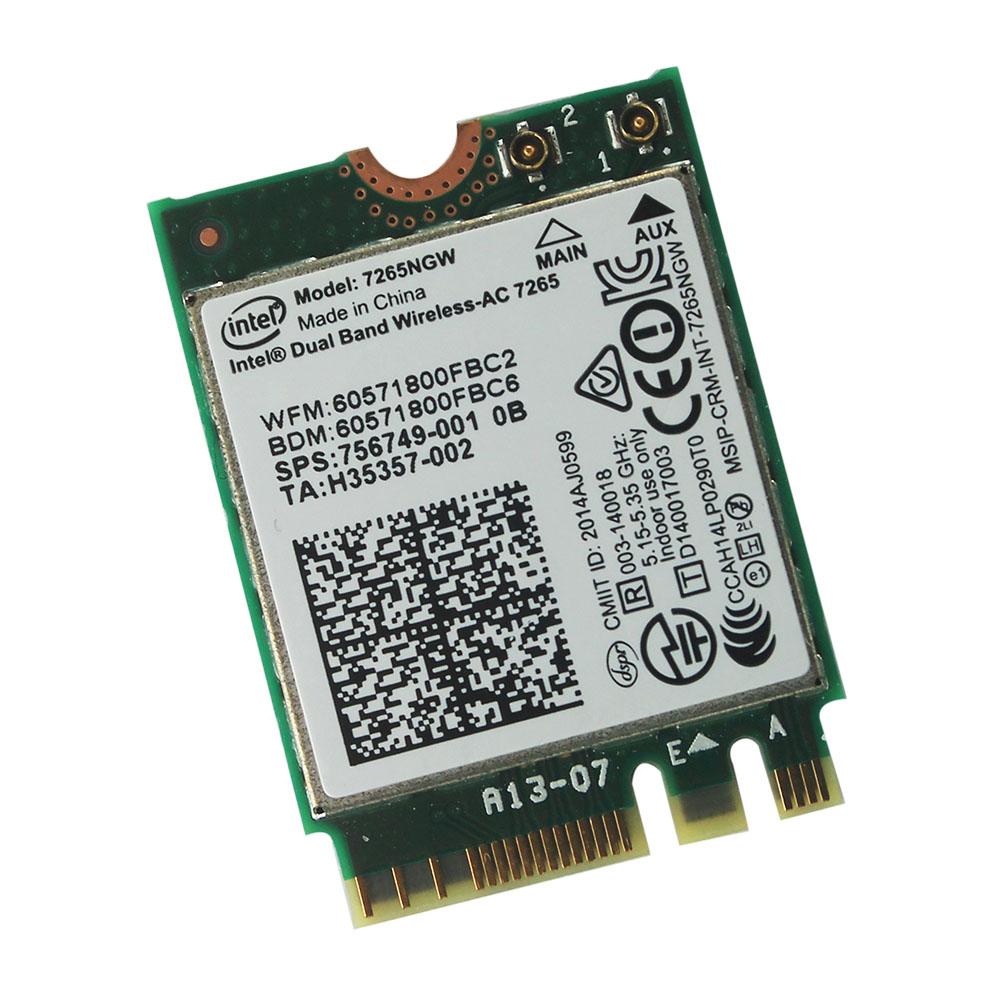 Intel Dual Band Wireless-AC 7265 7265NGW (NGFF)Card 802.11ac 867m 2x2 Wifi BT4.0<br><br>Aliexpress