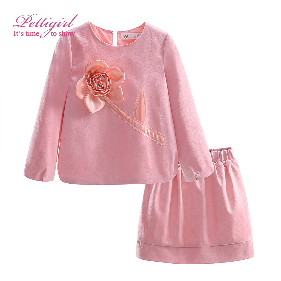 Aliexpress.com  Buy 2017 New Autumn Pink Girls Clothing Sets Childen Solid Suits With Flower ...
