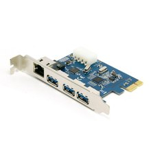 20pcs Gigabit Ethernet Network LAN 3 Port USB 3 0 to PCI E Card PC Adapter