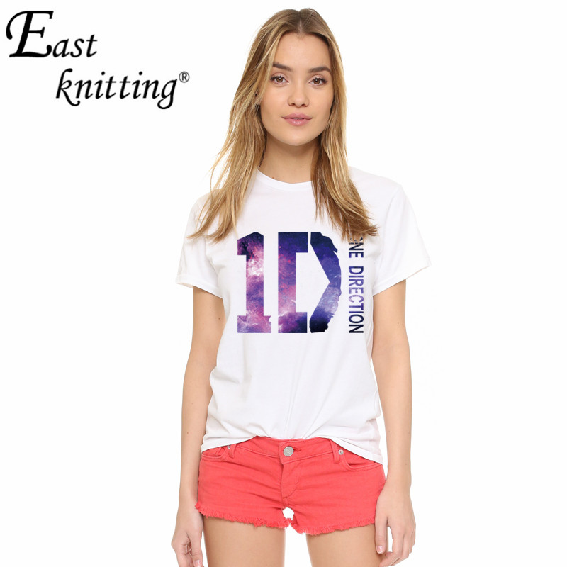 East Knitting H683 ID Print White T-shirt Summer Casaul Loose Tees Soft Cotton Cool Tops For Women(China (Mainland))