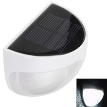 Éclairage extérieur Solaire Propulsé 6 LED Lumières pour Pathway Patio Porche Clôture Gouttière Jardin Décoration Murale Lampes(China (Mainland))