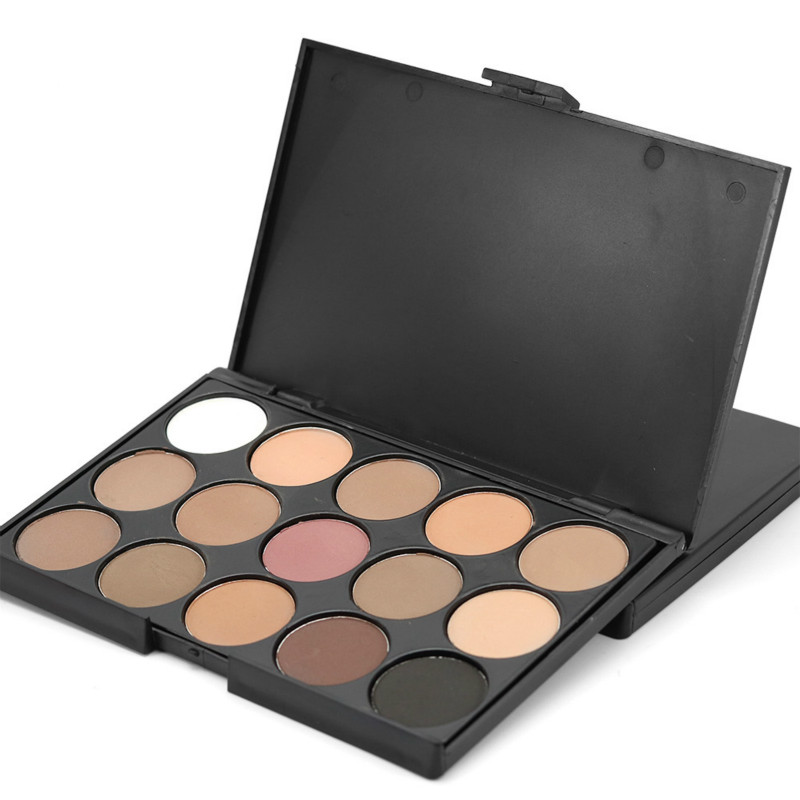 15color Brand Earth Eyeshadow Palette Makeup Glitter Eye Palette Maquiagem Professional Matte Colour Pigment Eye Shadow Cosmetic(China (Mainland))