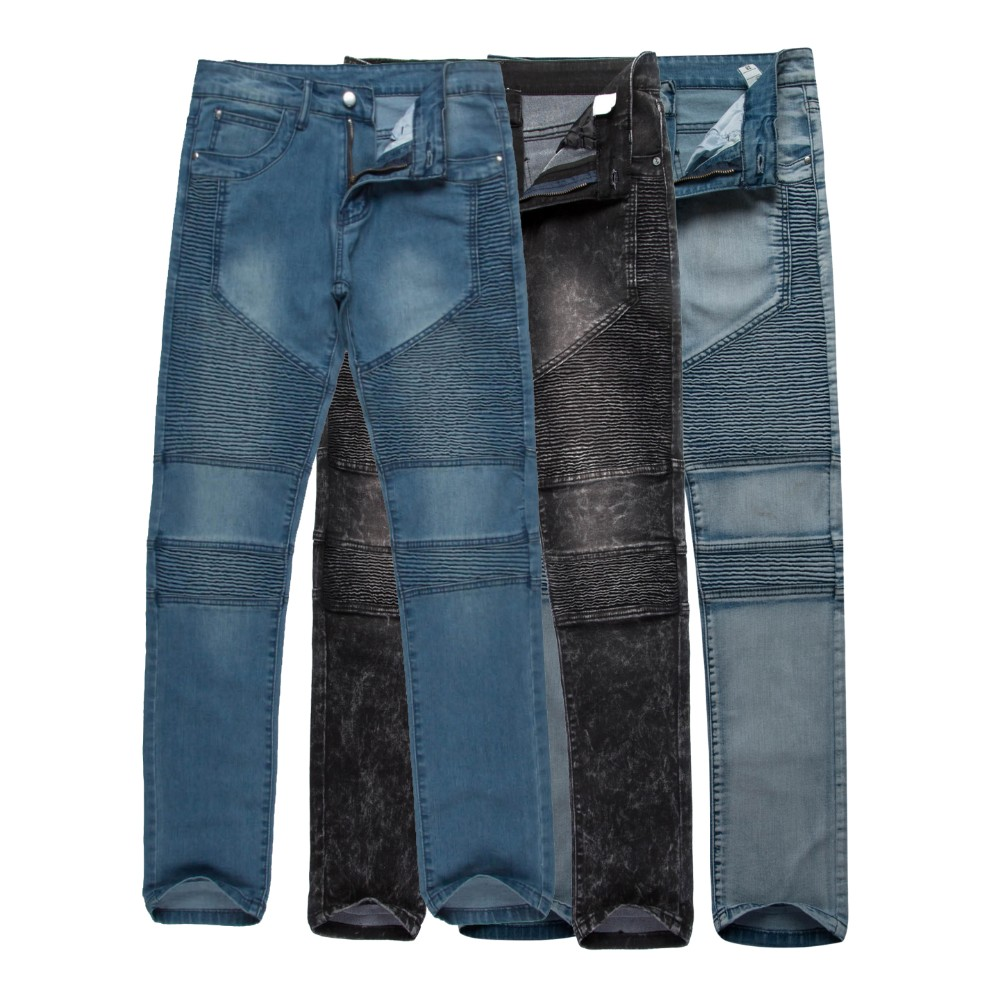 Represent Clothing Rock Urban Star 30-36 Blue/Black /Gray Skinny Moto Designer Denim Biker 2015 Mens Fashion Jeans Men Pants