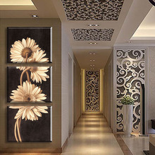 Buy 3 Panel Daisy Wall Painting Free Modern Canvas flower Picture Living Room Home hallway decor Art Prints Poster Unframed for $6.75 in AliExpress store