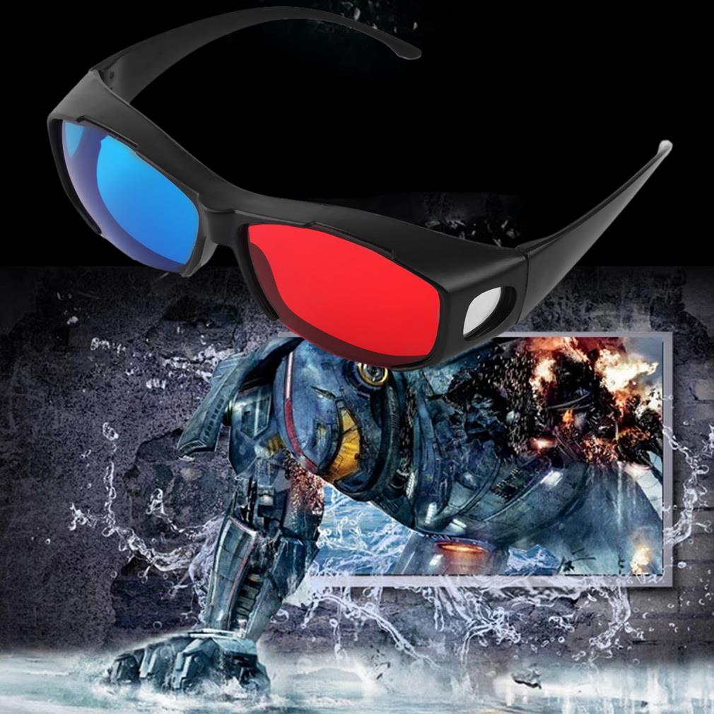 Fashion Red And Blue Color Universal Type 3D Glasses TV Movie Dimensional Anaglyph Video Frame 3D Vision Glasses DVD Game Glass(China (Mainland))