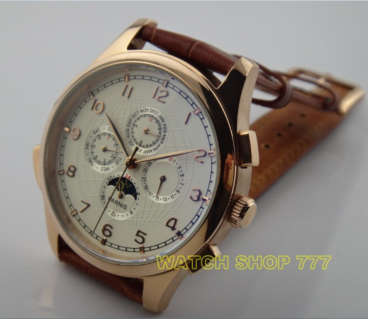 44mm parnis asian automatic mechanical movement s