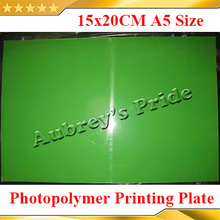 Free Shipping 1 Sheet 150x200mm CliChe Making UV Exposure Photopolymer Printing Plate Mold A5 Size Business Card(China (Mainland))