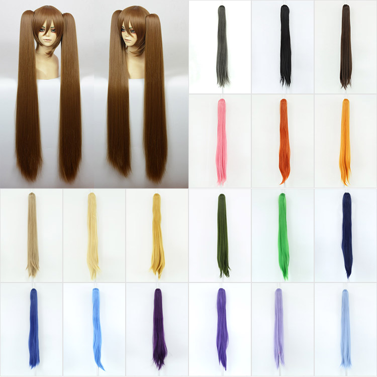 long Straight Ponytail wigs 90cm 24colors clamp Claw Ponytail Hair Hairpieces Straight DIY design free collocation cosplay wigs(China (Mainland))