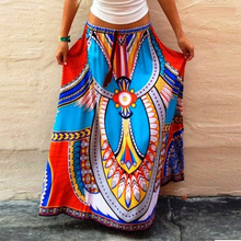 2016 hot sell in European nation saia Thailand wind style printing and put on long skirts