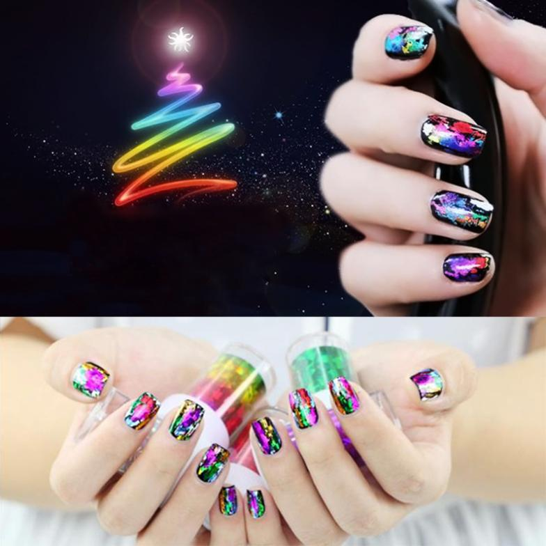 1set Nail Art Decals Transfer Foils DIY Beauty Stickers Gold Silver Styling Design Tool#LY120 - Shoot-in store