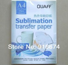 Fast Free shipping 1000 sheets A4 sublimation transfer paper heat transfer paper for mug board pillow shirt(China (Mainland))