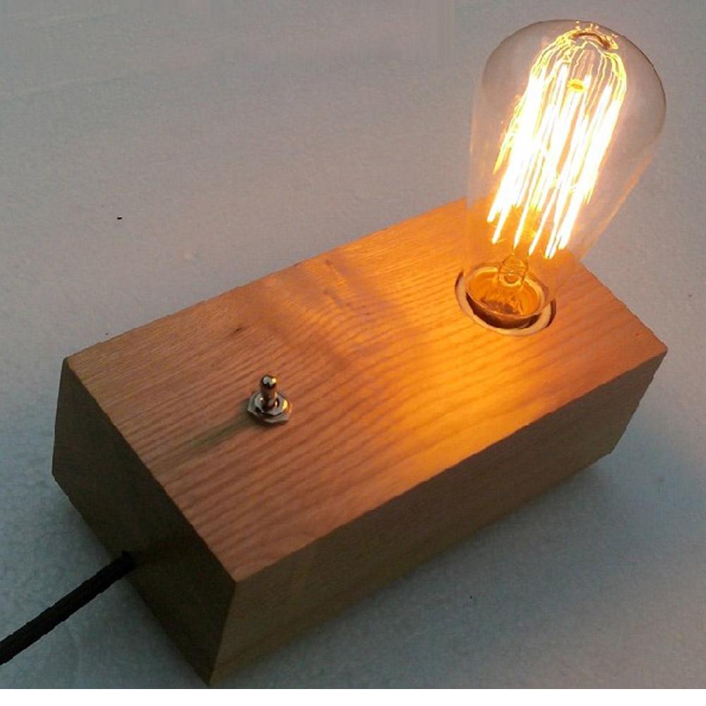 Fashion diy slaapkamer moderne edison houten tafel verlichting 110 ...