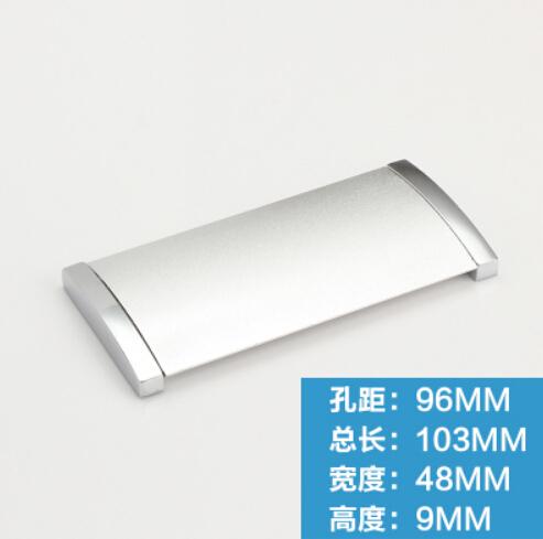 8шт 96мм прямоугольной формы песок белый цвет мебели сплава цинка шкафа выдвижной ящик скрытые ручки