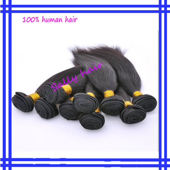 Free shipping AAAA Natural Black Brazilian STW 100% human hair extension 4pcs/lot  length12inch-30inch