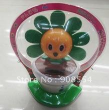 Free shipping via EMS  60pcs per lot    novelty solar  dancing toy    head shaking eyes winking under sunshine(China (Mainland))