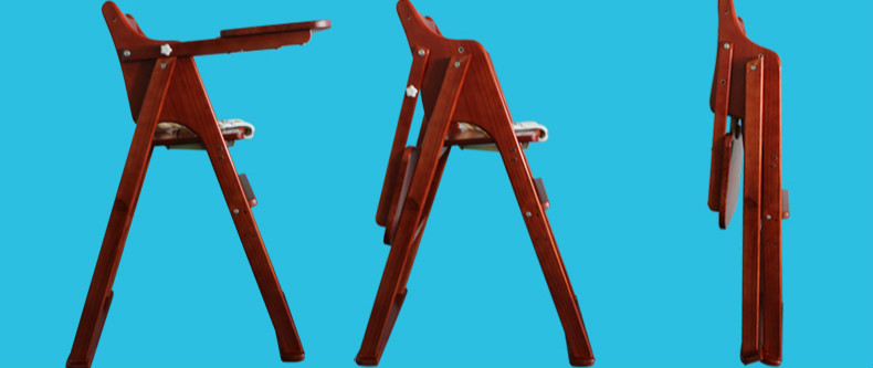 Baby High Chair Multifunctional Solid Wood Baby Dining Chair Table Seat Portable Folding Baby Feeding Chair Seat C01