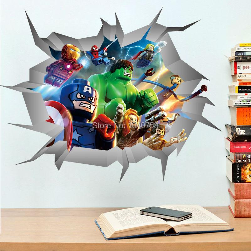 Online kopen wholesale avengers room uit china avengers room groothandel - Muur deco volwassen kamer ...