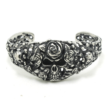Mens Boys 316L Stainless Steel Cool Punk Gtohic Evil Demon Flower Cool Newest Bangle Newest Design