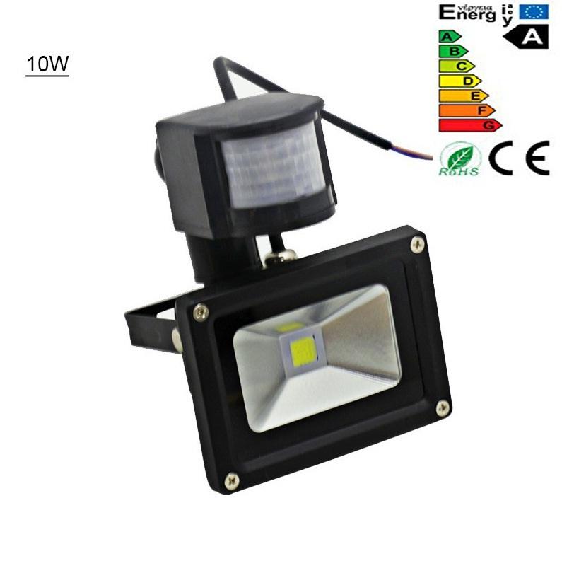 PIR LED Flood Light Outdoor Spotlight Motion Sensor Path Light 10W IP65 AC85-256V Power saving Factory Direct  Free Shipping<br><br>Aliexpress