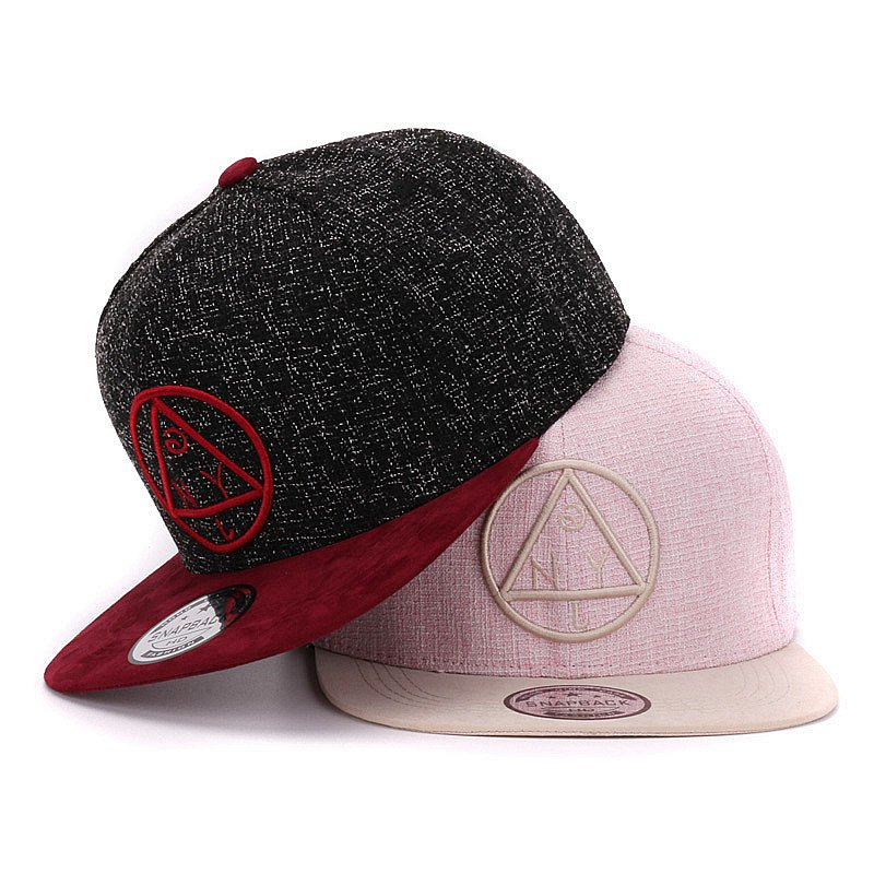 Quality Snapback cap NY round triangle embroidery brand flat brim baseball cap youth hip hop cap and hat for boys and girls(China (Mainland))