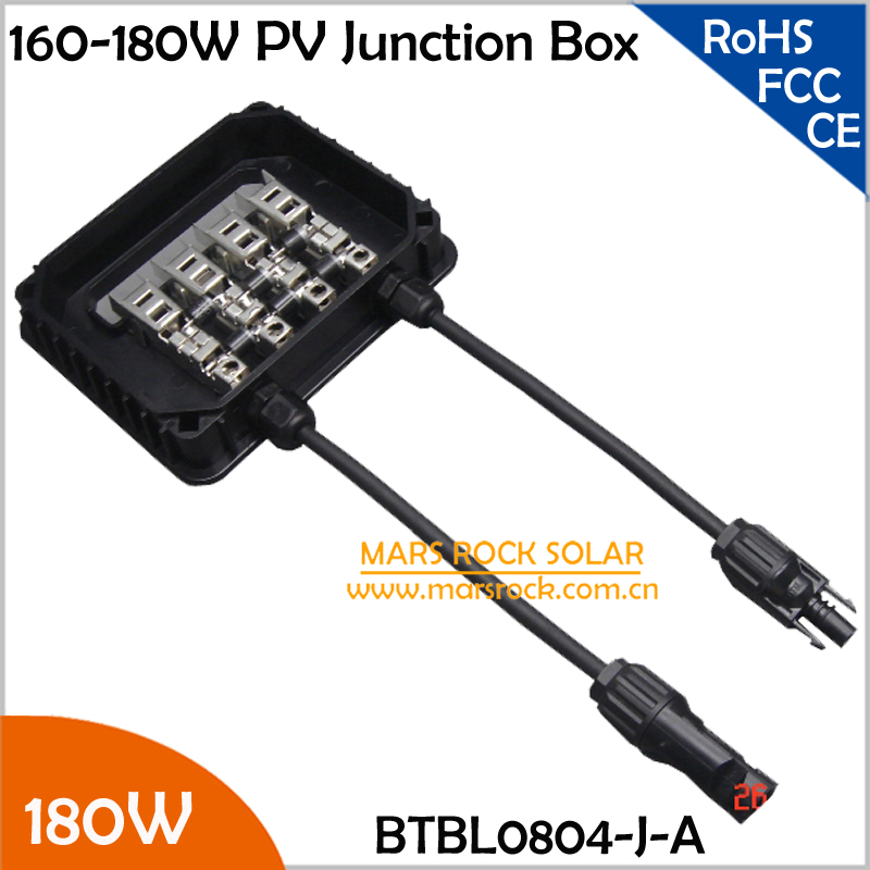 160-240W Solar Powered Junction Box with 3 Diodes(10SQ050), Connector, 90CM Cable, Metal Plugs<br><br>Aliexpress