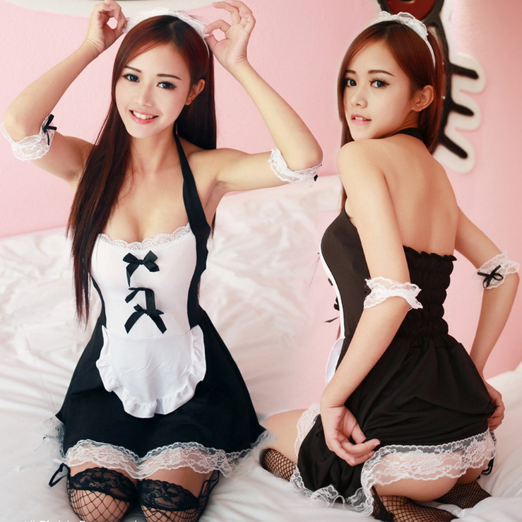 Bdsm Sexy Costume For Women Erotic Maid Costumes Sexy Lingerie Lovely Maid Uniform Underwear Set Sexy Bra temptation plus size