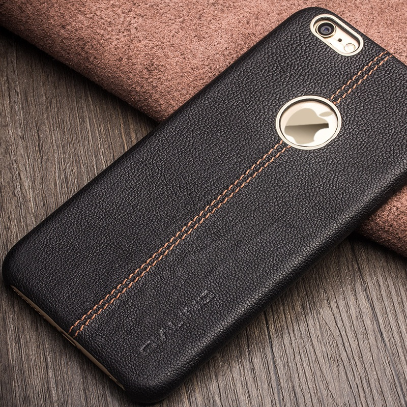 QIALINO Luxury Bag Cowhide Genuine Leather Back Cover Phone Case Protective Shell for iPhone 6s 6 4.7 inch