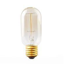 Practical 40W E27 Retro Edison Filament Bulb T45 Wire drawing Light Decorative Lamp 110V #77961(China (Mainland))