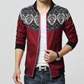 Fashion Stitching Men Brand Jacket Slim Fashion Coat Korean Men Stand Collar Jacket Men Suit Red