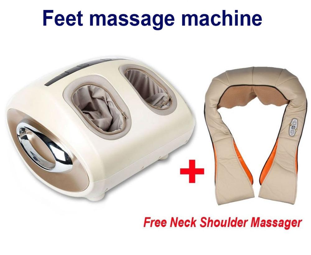 HOT SALE Luxury full feet massager electric shiatsu foot massage Machine Foot Care Device with Heat+ Free Neck Shoulder Massager(China (Mainland))