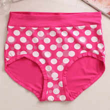 2016 New Arrival Underwears Women Briefs Lingeries Plus Size 5XL High Waist big dot printing Stone big size women's Panties