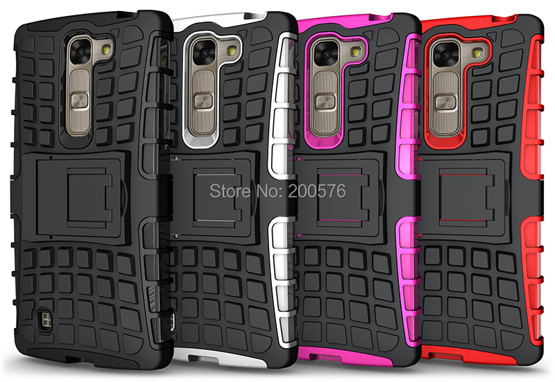 TPU&PC Heavy Duty armor stand case For LG G4C Magna case with stand Protective Skin Double Color Shock Prooffor #1(China (Mainland))