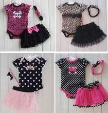 2015 New Fashion Baby Clothing Set Carters Baby Girl Sets Romper Tutu Skirt Headband Newborn bebe