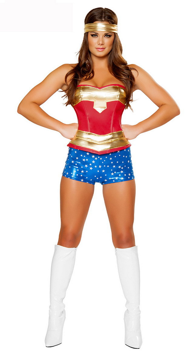 halloween costumes for women wonder woman costume gold red. Black Bedroom Furniture Sets. Home Design Ideas