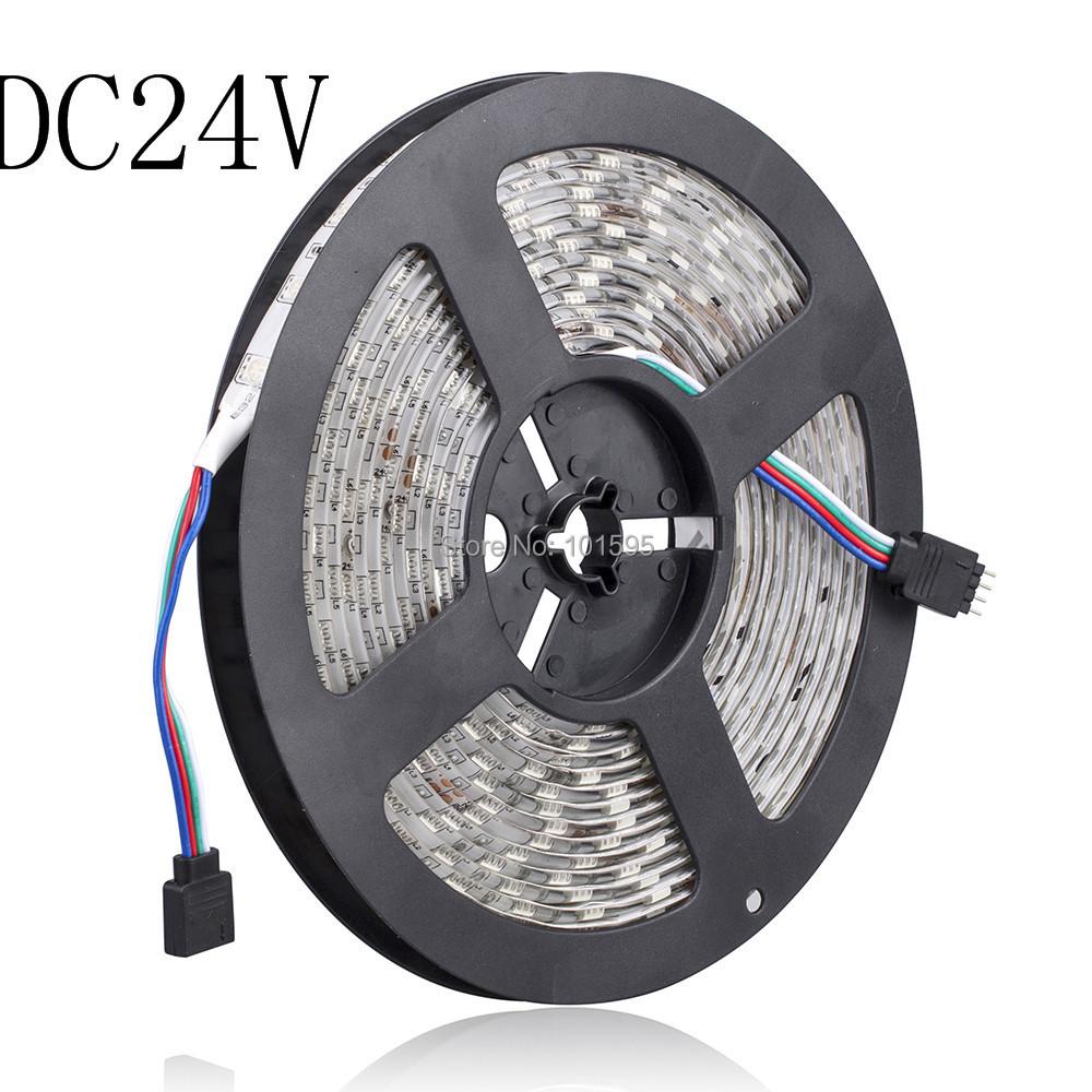 Гаджет  Hot sell!Waterproof 5M SMD 5050 300Leds RGB LED Strips 60leds/m Flexible Led Strip Light DC 24V None Свет и освещение