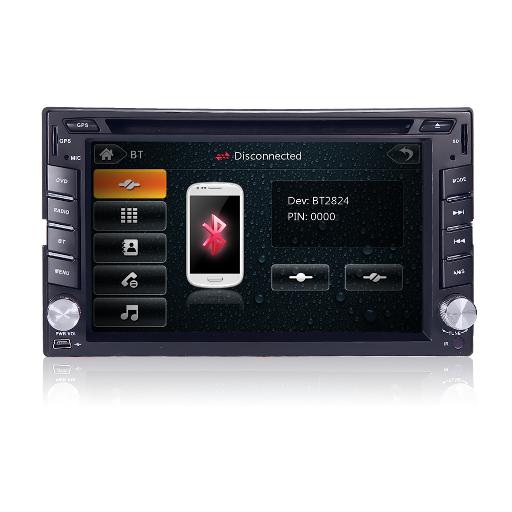 2din New universal Car Radio Double 2 din Car DVD Player GPS Navigation In dash Car PC Stereo video Free Map Car Electronics(China (Mainland))