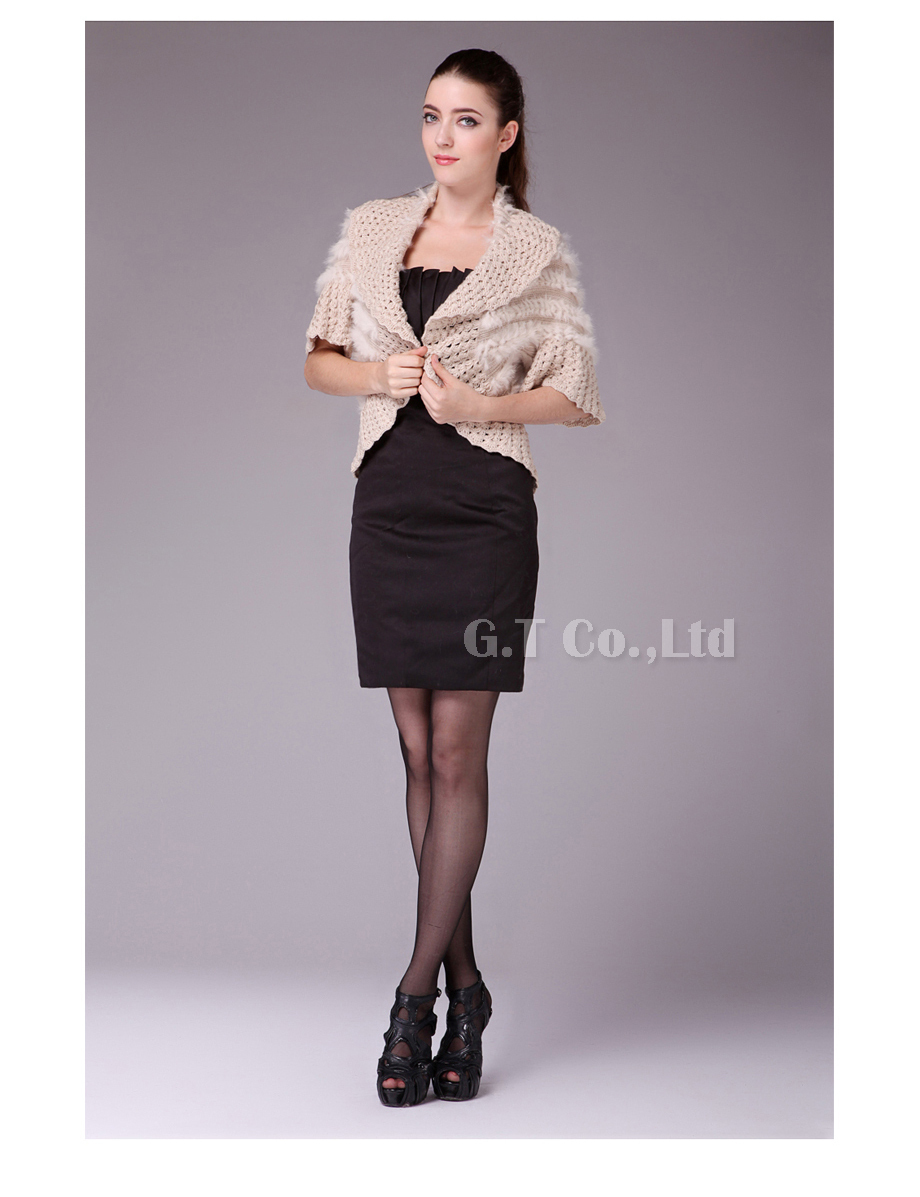 0211 real rabbit fur capes shawl stole cape wrap wraps poncho shawls for winter(China (Mainland))