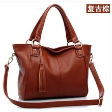 Женщины кожа сумки, Кисточка диагональная пакет, Рельефный кожа женщины сумка-мессенджер